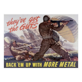 They ve got the guts back em up with more metal posters