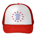 They Voted They Won Mesh Hat