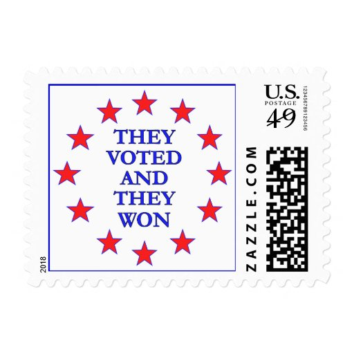 They Voted They Won Stamp