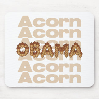 They were made for each other: Acorn and Obama Mousepads