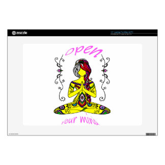 """they woman meditation decal for 15"""" laptop"""