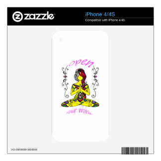 they woman meditation skins for iPhone 4