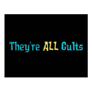 They're ALL Cults Postcard