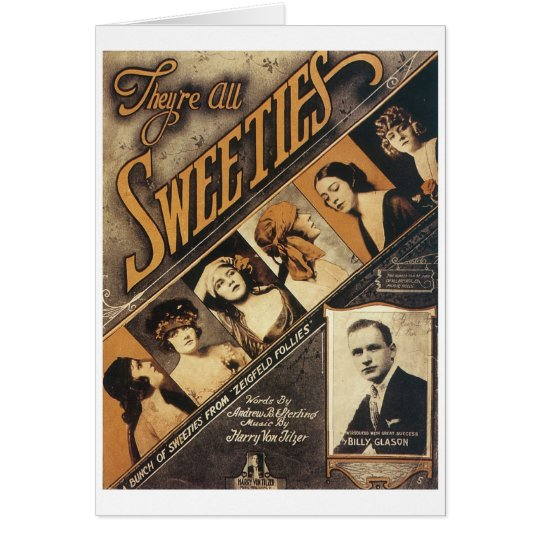 They're All Sweeties Vintage Songbook Cover Card