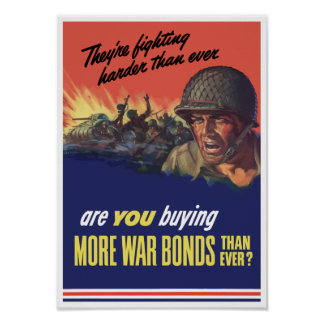 They're Fighting Harder Than Ever -- WWII Poster