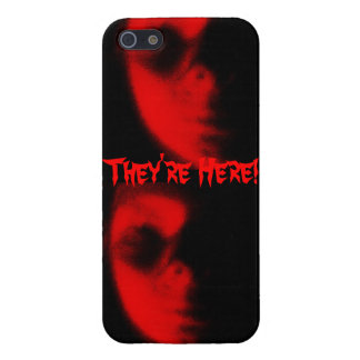 They're Here Alien Invasion iphone cover iPhone 5 Cases