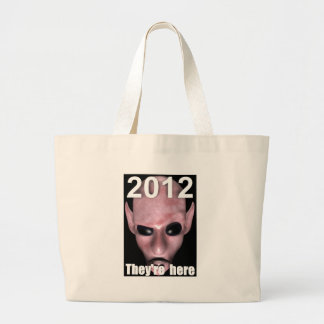 THEYRE-HERE LARGE TOTE BAG