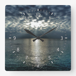 They're Here Square Wall Clock