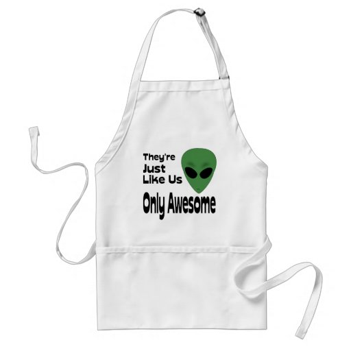 They're Just Like Us Adult Apron