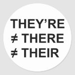 They're Not There Round Sticker