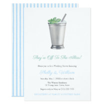 They're Off To The Altar Horse Race Wedding Shower Invitation
