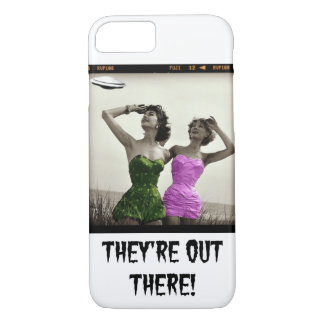 THeY'Re OuT THeRe!  HuMoRouS UFO PHoNe CaSE