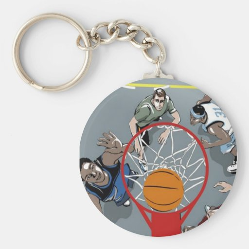 They're Playing Basketball - Key Chain