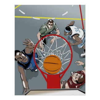 They're Playing Basketball - poster