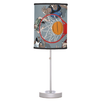 They're Playing Basketball Table Lamp