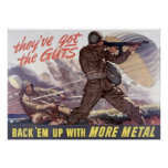 They've got the guts : back 'em up with more metal poster