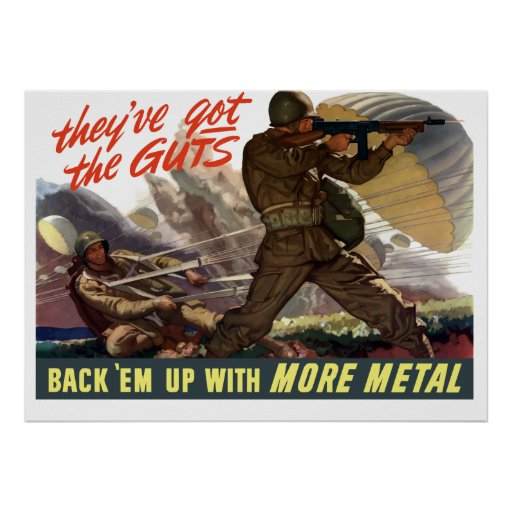 They've Got The Guts -- WW2 Poster