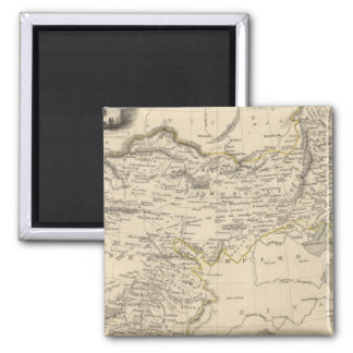 Thibet, Mongolia, and Mandchouria 2 Inch Square Magnet
