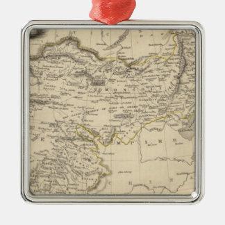 Thibet, Mongolia, y Mandchouria Adorno Navideño Cuadrado De Metal
