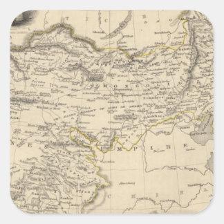 Thibet, Mongolia, y Mandchouria Pegatina Cuadrada