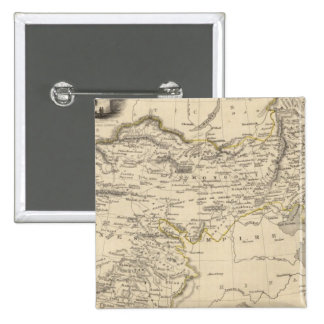Thibet, Mongolia, y Mandchouria Pin Cuadrado