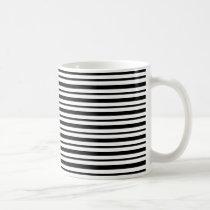 Thick and Thin  Black and White Stripes Coffee Mug