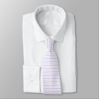 Thick and Thin Lavender and White Stripes Tie