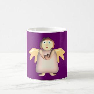 thick angel rotund fishing rod coffee mug