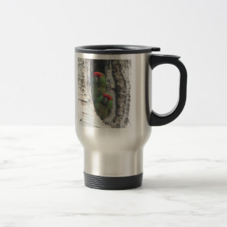 Thick-billed Parrot Travel Mug, right-handled