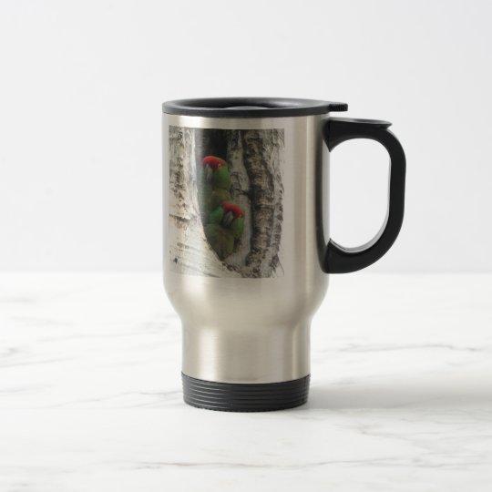 Thick-billed Parrot Travel Mug, right-handled Travel Mug