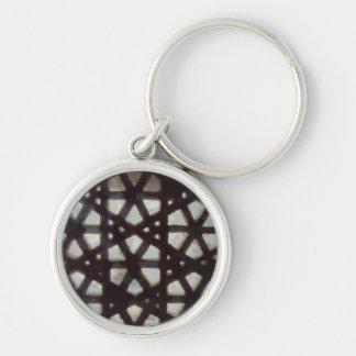 Thick brick lattice keychain