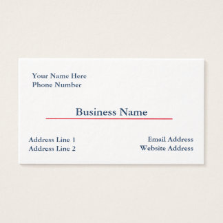 Thick Business Card Template #2