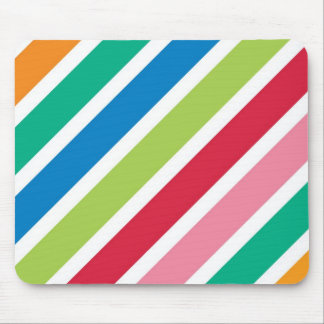Thick Candy Stripes Mouse Pad