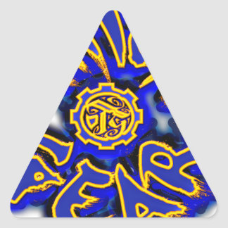 Thick Gear Triangle Sticker