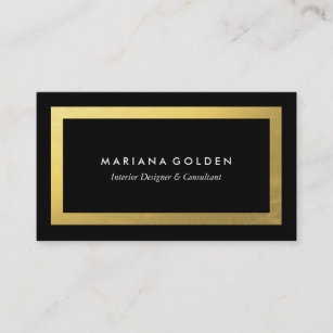 Gold border business cards zazzle thick gold border on black business card template fbccfo Gallery