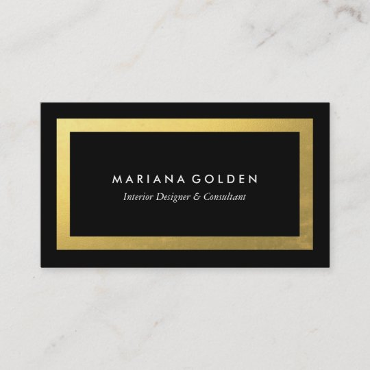 Thick gold border on black business card template zazzle thick gold border on black business card template cheaphphosting Choice Image