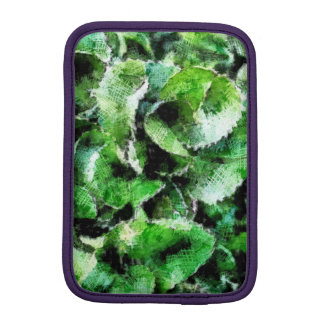 Thick green cabbage leaves iPad mini sleeve