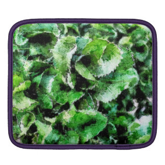 Thick green cabbage leaves iPad sleeve