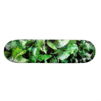 Thick green cabbage leaves skateboard deck