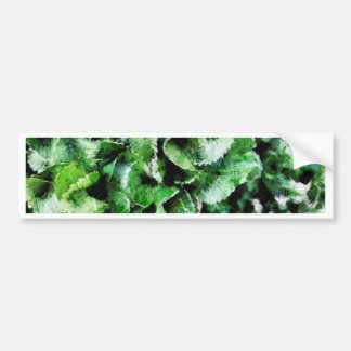 Thick green leaves bumper sticker