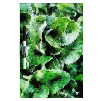 Thick green leaves Dry-Erase board