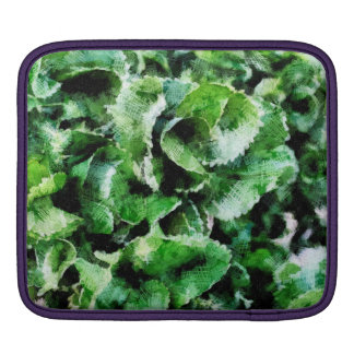 Thick green leaves iPad sleeve