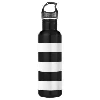 Thick Horizontal Stripes Aluminum Stainless Steel Water Bottle