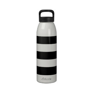 Thick Horizontal Stripes Aluminum Water Bottle