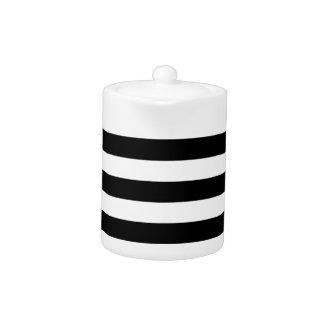 Thick Horizontal Stripes Teapot