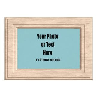 Thick Light Wood Frame - Customizable Custom Invitation