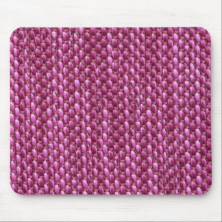 Thick pink strings with thin red strings mouse pad