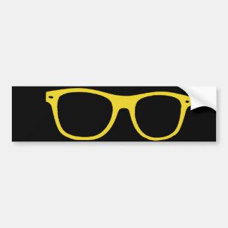 thick rimmed glasses bumper sticker car bumper sticker