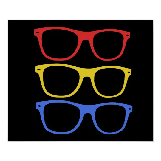 thick rimmed glasses poster