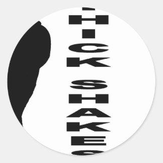 Thick Shakes Round Stickers